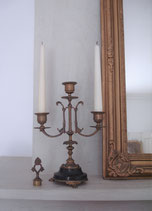 Wunderschönes Paar antiker Kaminleuchter 3-flammig, Frankreich 19. Jahrh.