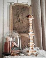 Antiker großer Altarleuchter Holz 19. Jahrhundert