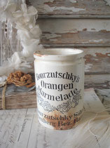 Seltener alter Marmeladentopf Bourzutschky's Orangen Marmelade