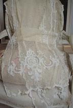 Wunderschöne antike Tüll Gardine Frankreich um 1890