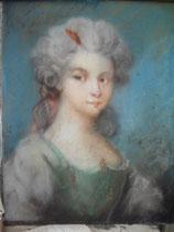 Zauberhaftes Pastell Barock Mädchen Porträt  aus Frankreich