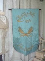 Antike Seiden Fahne / Flagge Carnaval de Nice 1896