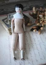 Antike kleine China Porzellankopf Puppe aus Frankreich