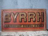 Antikes französisches Werbeschild BYRRH von 1920