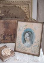 Antiker Messing Bilderrahmen mit Bekrönung Frankreich