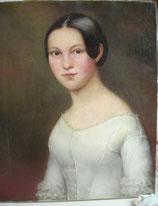 Fantastisches Portrait eines jungen Mädchens Öl auf Leinen Ende 19. Jahrh.