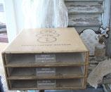 Shabby: Alte Schubladen Kartonbox aus Frankreich