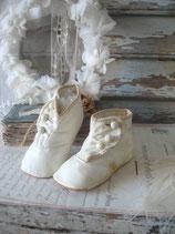 So shabby: Antike viktorianische Baby Knopfschuhe