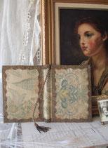 Antike Stoff Buchumschlag Frankreich 19. Jahrhundert