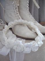 Schöner antiker Kommunionskranz Blütenkranz Frankreich