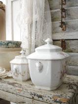 Zauberhaft: Antiker großer Porzellan Sucrier aus Frankreich