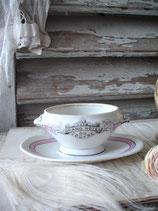 Antiker Porzellan Moutardier aus Frankreich 1900