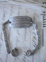 Sehr alte Erkennungsmarke Armband Soldat Frankreich