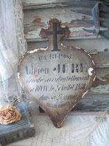 Antikes französisches Emaille Herz