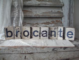 Dekoratives Set alter Holzstempel aus Frankreich