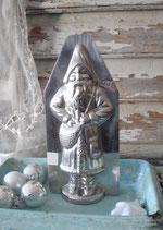 Große alte Schokoladenform Weihnachtmann aus Frankreich