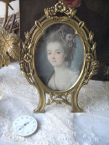 Antiker Messing Bilderrahmen Frankreich