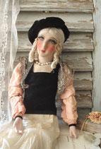 Shabby: Wunderbare Sofapuppe / Boudoir doll aus Frankreich