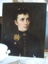 Antikes  Damen Porträt Öl auf Leinen um 1900