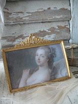 Antiker Messing Rahmen Stil Louis XVI Frankreich