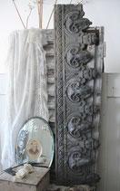 2 x altes graues Fensterfries Zink Frankreich