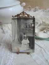 Antiker Bilderrahmen mit Bekrönung 1890