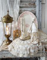 Shabby: Antike viktorianische Brautschuhe 19. Jahrhundert