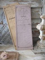 Dekorative alte handgeschriebene Quittung 1862 Frankreich