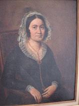 Antikes Biedermeier Porträt einer Dame Ölgemälde