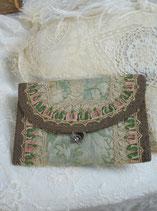 Antike Stoff Brieftasche Frankreich 19. Jahrhundert