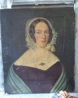 Museales Damen Porträt Öl auf Leinen um 1870