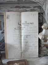 Dekorative alte handgeschriebene Quittung 1876 Frankreich