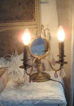 Seltene antike Girandole mit Spiegel aus Frankreich