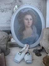 Traumhaftes Damen Pastellbild aus Frankreich