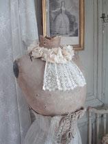 Shabby: Antiker Brautkranz Stoffblumen Frankreich 1900