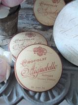 Dekorative alte Schokoladen Schachtel aus Frankreich