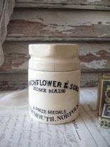 Alter Deckeldose / Vorratstopf Keramik aus England 1900