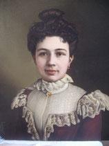Dekoratives antikes Porträt einer jungen Dame, Frankreich um 1900