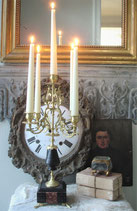 Antiker 5-flammiger Kerzenleuchter aus Frankreich