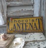 Antikes französisches Werbeschild Chocolat von 1930