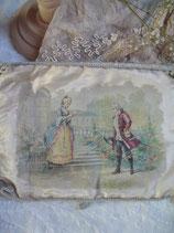 Zauberhafter antiker Seidentasche / Umschlag aus Frankreich
