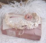 Antiker Brautkranz  Wachsblumen Frankreich 1900