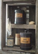 Antike Apothekendose Aufbewahrung  1900