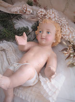Wunderbares großes Jesuskind aus Gips Frankreich
