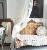 Antikes Eisenbett / Kinderbett aus Frankreich