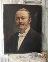 Antikes Herren Porträt Ölgemälde um 1900