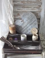 Shabby: Rustikale alte Bäckereiform aus Metall