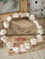 Süßes antikes Kommunionskränzchen Blütenkranz Frankreich