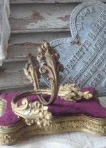 Antikes Set Messing Vorhanghalter, Frankreich 19. Jahrhundert