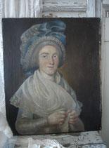 Museal: Damen Porträt aus Frankreich 19. Jahrhundert